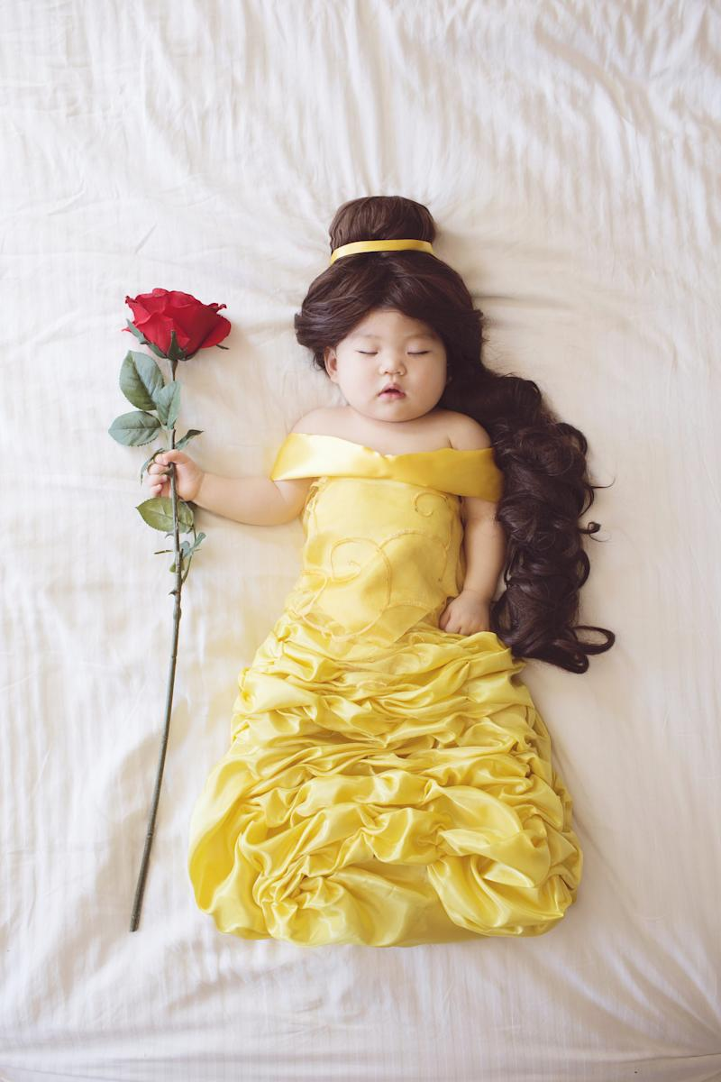 """Izumikawa's personal favorite is Joey as Belle from """"Beauty and the Beast."""" (Laura Izumikawa/Gallery Books)"""
