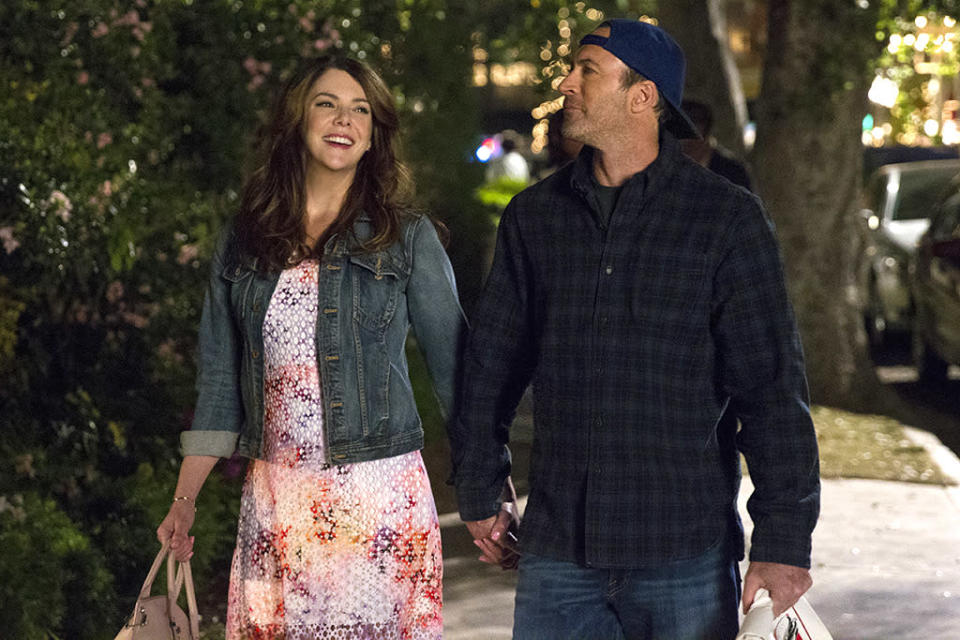 """<p><b>Where We Left Off: </b> Rory (Alexis Bledel) graduated from Yale and got a job as a reporter covering Barack Obama's first campaign, and Luke (Scott Patterson) and Lorelai (Lauren Graham), while not officially back together, seemed to be on the reunion trail. <br><br><b>Coming Up: </b> """"What I can tell you is that Luke and Lorelai are together. They are figuring out their next steps in life,"""" says Patterson. """"That's pretty much all I can say."""" Which is pretty much all that matters to the <i>Gilmore</i> devoted. Actually, no, we want more. Has Luke changed? """"Luke's not a changer. He resists change. He lives in a very small world that he's created around himself, that he's very comfortable in,"""" Patterson says. """"He doesn't like to leave it. Maybe he's gained five pounds."""" Even so, Luke's trademark baseball cap still fits. """"The hat was not at the wardrobe fitting, but the first day on set the hat was waiting for me in the trailer,"""" the actor says. """"I will admit. I was by myself, and I said out loud, 'Hello, old friend.' I really did say that very corny line."""" <br><br><b>Grandpa Gilmore: </b> Lots of other things have changed in the lives of the Gilmore girls, of course, the saddest one being the 2014 death of Edward Herrmann, which is written into the new season as grandma Emily, Lorelai, and Rory are all dealing with the death of family patriarch Richard. """"[Series creators] Amy [Sherman-Palladino] and Dan [Palladino] made sure to pay proper respect to him in these episodes,"""" says Patterson, who credits the incredible response the <i>Gilmore</i> gang received during their appearance at the 2015 ATX Festival with helping to push the Netflix project into existence. """"The first day I came onto the Gilmore house set, there are reminders of Ed all over that set. It was quite a moment for all of us. We all just sort of sat down and took a moment to remember and feel."""" <i>– KP</i> <br><br>(Credit: Netflix)</p>"""