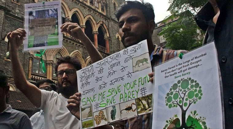 Mumbai city news, Mumbai news, Mumbai aarey forest protest, Aarey colony protest, indian express news