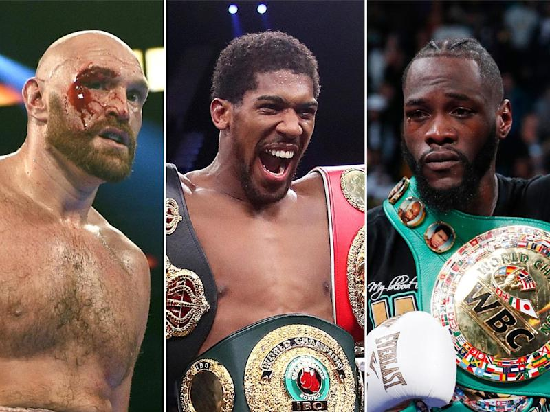 Tyson Fury, Anthony Joshua and Deontay Wilder are the top three heavyweights in the world: Getty