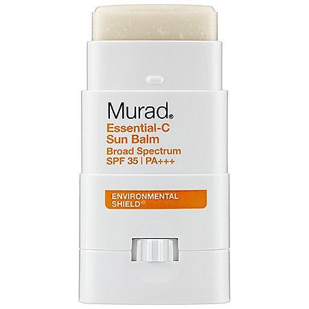 """<p>If I've been out in the sun for a while and I get paranoid that my sunscreen is melting off, I apply this stick to my nose, cheeks, forehead and anywhere that tends to burn. Applying the non-waxy stick feels more like a physical barrier against UV rays and never fails me. <br><a href=""""http://www.murad.com/essential-c-sun-balm"""" rel=""""nofollow noopener"""" target=""""_blank"""" data-ylk=""""slk:Murad Essential-C Sun Balm Broad Spectrum SPF 35"""" class=""""link rapid-noclick-resp"""">Murad Essential-C Sun Balm Broad Spectrum SPF 35</a> ($12)</p>"""