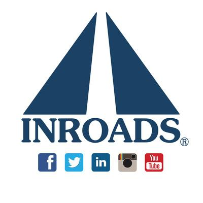 INROADS logo and social media. www.INROADS.org.