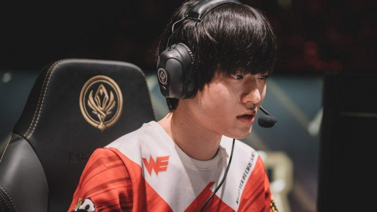 "Team WE AD carry Jin ""Mystic"" Seong-jun at the 2017 League of Legends Mid-Season Invitational (Riot Games/lolesports)"