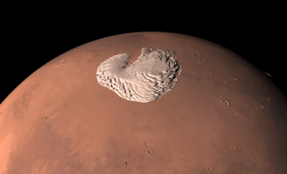 Amazing Video Shows North Pole of Mars Like Never Before