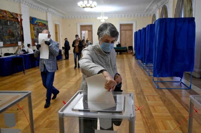 Sunday's vote is first held in Ukraine since the start of the coronavirus pandemic