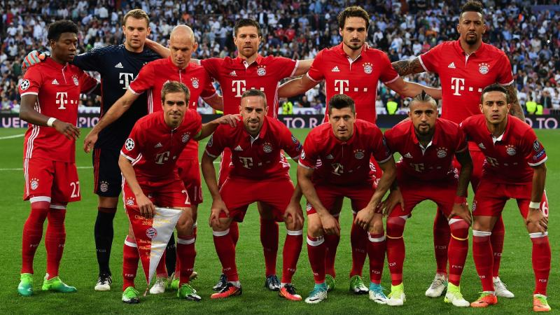 Os números do Bayern de Munique campeão 2016/17
