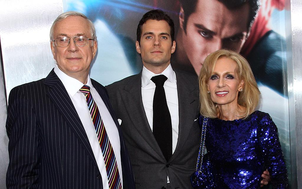 "Henry Cavill (C) with father Colin Cavill (L) and mother Marianne Cavill attend the ""Man Of Steel"" World Premiere at Alice Tully Hall at Lincoln Center on June 10, 2013 in New York City."