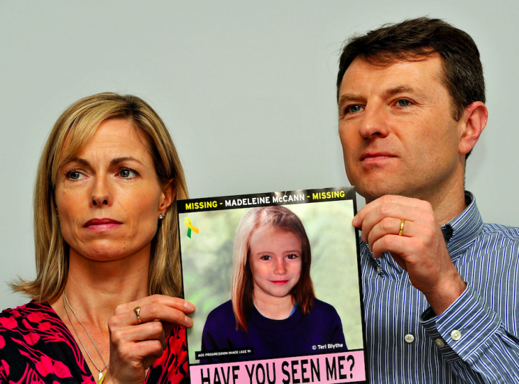Kate and Gerry McCann have never given up hope of finding Maddie (PA)
