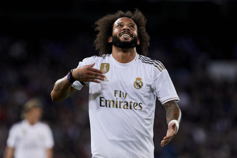 Marcelo Vieira of Real Madrid during La Liga match between Real Madrid and CD Leganes at Santiago Bernabeu Stadium in Madrid, Spain. October 30, 2019. (Photo by A. Ware/NurPhoto via Getty Images)