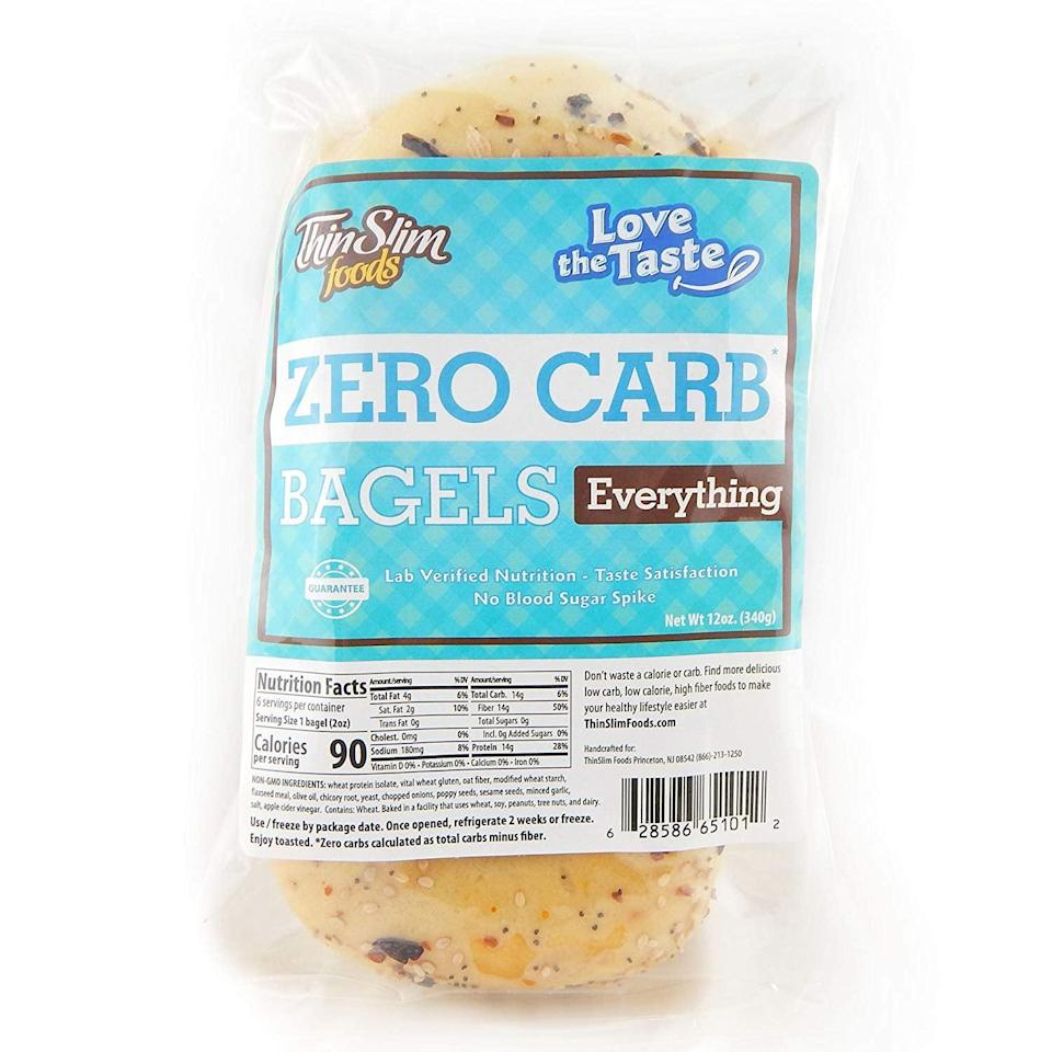 <p>Welcome Sunday morning with these <span>ThinSlim Foods Low Carb Everything Bagels</span> ($26 for two).</p>