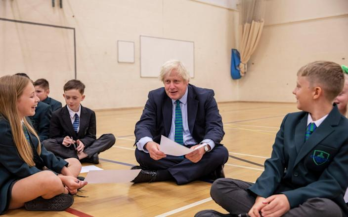 The PM visits Castle Rock school in Coalville on the pupils' first day back - Jack Hill