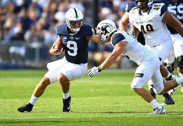 Kent State DB Nate Holley had 17 tackles vs. Penn State in September. (Photo by Joe Sargent/Getty Images)