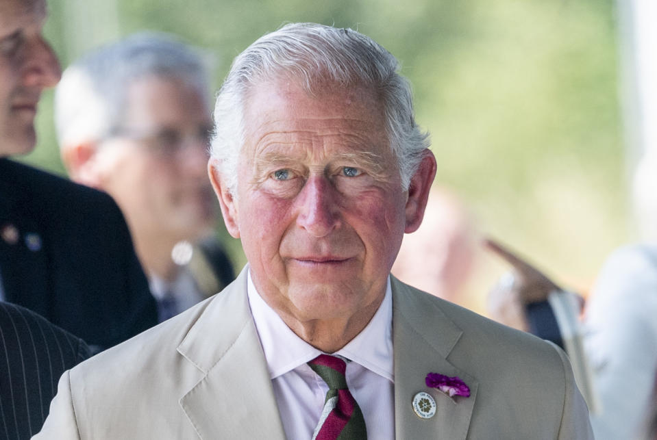 NEW TREDEGAR, WALES - JULY 04: Prince Charles, Prince of Wales at White Rose Primary School during a visit to Wales on July 4, 2019 in New Tredegar, Wales. (Photo by Mark Cuthbert/UK Press via Getty Images)