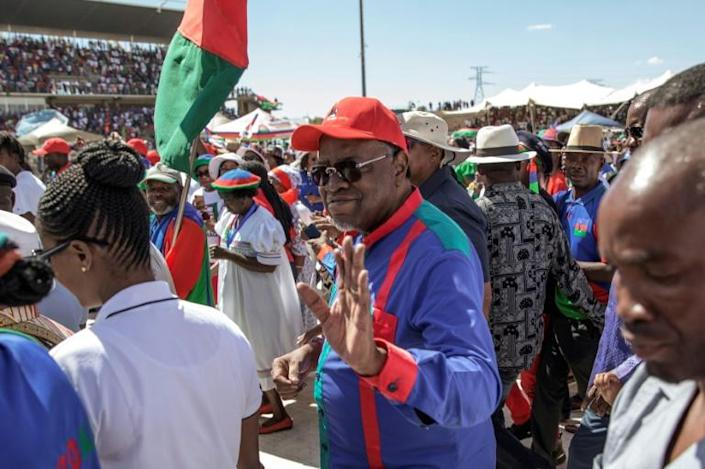 President Hage Geingob is expected to win re-election though his first term was marred by a recession (AFP Photo/GIANLUIGI GUERCIA)
