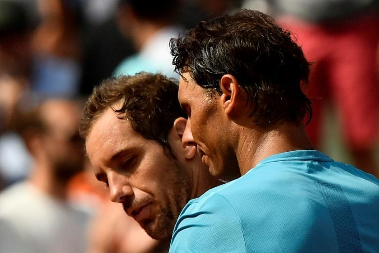 Lifelong rivals: Rafael Nadal and Richard Gasquet at the 2018 French Open