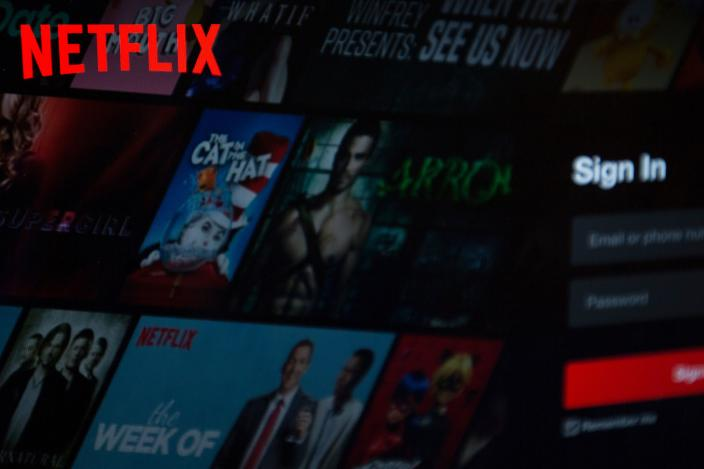 The Netflix logo is seen on a computer in this photo illustration in Washington, DC, on July 10, 2019. (Photo by Alastair Pike / AFP) (Photo credit should read ALASTAIR PIKE/AFP/Getty Images)