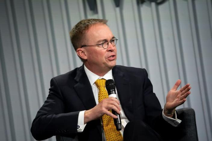 FILE PHOTO: Acting White House Chief of Staff Mick Mulvaney speaks during the Wall Street Journal CEO Council