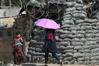 A security post in Kabul: Afghans are increasingly worried about the gains made by the Taliban insurgency in recent months as US forces leave Afghanistan