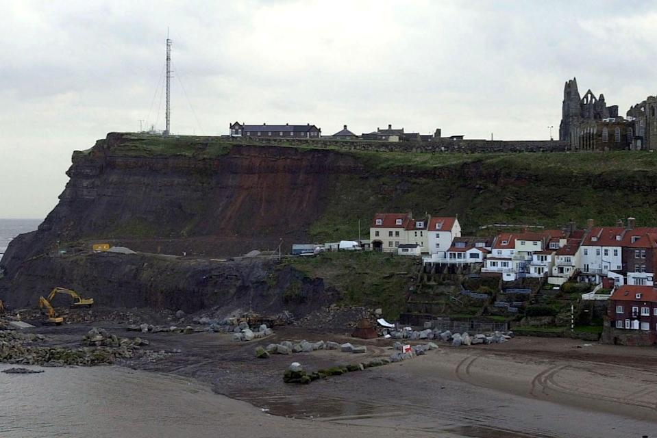<p>The Graveyard of St Marys Church (top), Whitby, Yorkshire near Cleveland Way (file picture)</p> (PA)