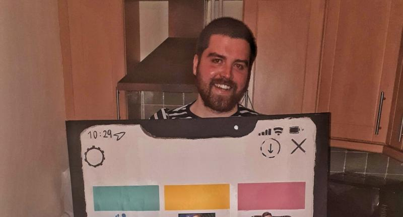 Kieran Nuge, 25, from Belfast, dressed as the Rebekah Vardy Coleen Rooney scandal for Halloween (Photo: Kieran Nuge/Supplied) https://twitter.com/_knuge/status/1188180255577649152/photo/1
