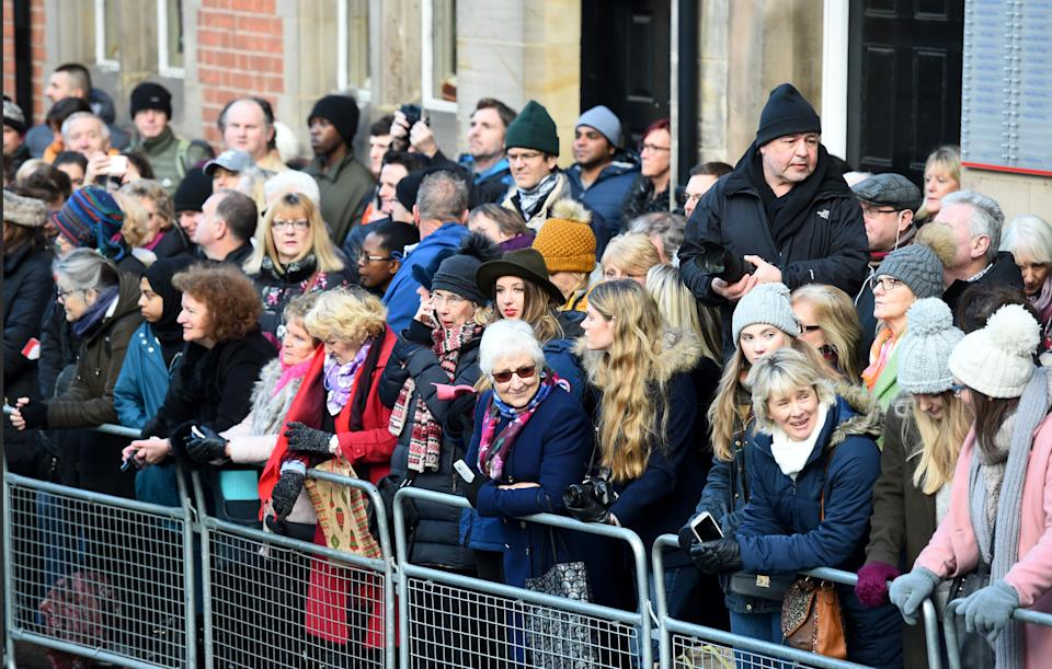 The crowds lined the streets for a glimpse of the royal couple [Photo: PA]