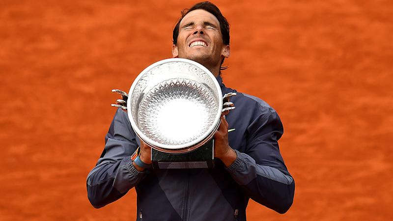 Rafael Nadal, pictured here after winning another French Open title in 2019.