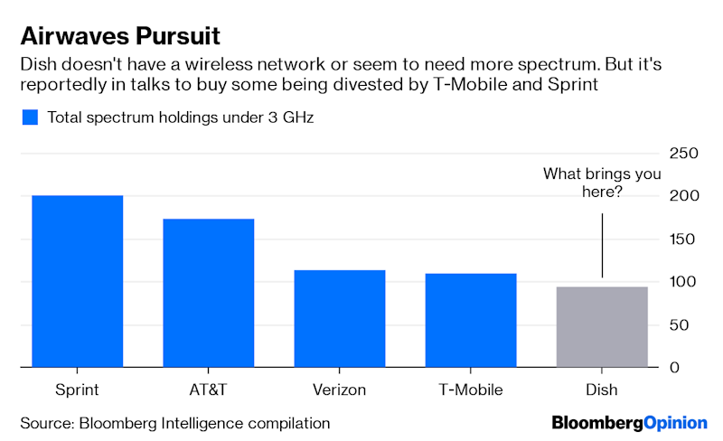 "(Bloomberg Opinion) -- T-Mobile US Inc. may have found a way to salvage its takeover of Sprint Corp., but it comes at a cost, and leaves one to wonder whether its single-minded focus on sealing the deal is clouding its judgment. It certainly wouldn't be the first company to let that happen in M&A. T-Mobile is in talks to sell assets, including wireless spectrum and Sprint's Boost Mobile prepaid brand, to satellite-TV provider and known spectrum-hoarder Dish Network Corp. for at least $6 billion, Bloomberg News reported Tuesday, citing people familiar with the matter. This is being done in an effort to appease the U.S. Department of Justice, which is concerned about the impact that T-Mobile's $59 billion acquisition of Sprint will have on consumers' wallets.The DOJ is said to want T-Mobile to lay the foundation for the emergence of a viable No. 4 competitor in the U.S. wireless market to help fill the hole that buying Sprint would leave behind. Dish could, in theory, be that new fourth competitor, and that's likely the motivation behind the reported arrangement. But given the strategic needs of all involved, the logic of this workaround is puzzling. Let's start with Dish. While it doesn't have a wireless network, it already owns lots of mid-band spectrum licenses. These valuable assets have underpinned the company's $18 billion market capitalization, even as its core satellite-TV business has lost droves of subscribers. Charlie Ergen, the billionaire chairman of Dish, has vaguely laid out plans for using the company's spectrum to build a nationwide network to service the ""internet of things,"" ostensibly a step toward later launching a 5G network. Despite what he says, many investors and analysts have expected (or hoped) to see Ergen just sell the spectrum, rather than spending years entangled in a costly network build-out and as a latecomer to the 5G race at that. In any case, the last thing Dish would seem to need is more spectrum. Taking on Boost's prepaid customers also wouldn't seem to give Dish much of a leg up in the wireless space, and their bases don't really overlap. What Dish does need is a partner with the ability to help build its network. If the Sprint deal were to collapse, T-Mobile could be said partner. (After all, Dish has been one of the biggest opponents of the T-Mobile-Sprint merger, at least until now it seems.) Or what about Amazon?A couple of years ago, Ergen reportedly discussed a partnership of sorts with Amazon.com Inc. – and that has to make T-Mobile a little nervous. It's hard to see how buying Sprint and potentially providing an entry point for Amazon is a better outcome for T-Mobile than the status quo of competing with Sprint, a far weaker rival. Gaining Sprint's spectrum is also one of the biggest reasons for doing the merger in the first place, so it's surprising that T-Mobile is willing to divest some of it. And a forced seller isn't known to get the best price. This is why I wrote last week that it wouldn't be a surprise if at this point T-Mobile decided to walk away from the deal, on account of disagreeable concessions and a lawsuit by a group of state attorneys general seeking to block the transaction. It may not be a stretch to think that may have been part of the DOJ's angle in pushing for such divestitures. But if the DOJ and T-Mobile can come to this simple of an agreement – sell spectrum and Boost – then I'm left with two questions: Were regulators really not taking a hard line? Or are executives at T-Mobile and its German parent company, Deutsche Telekom AG, so resolved to get the merger done that they'll do it even if the merits are spoiled in the process? Craig Moffett, an analyst at MoffettNathanson LLC, put it this way in a note to clients on Monday: ""At the end of the day, a bad deal is worse than no deal at all."" That's true – unless you're Sprint, in which case no deal is the worst outcome. But T-Mobile shouldn't feel that same desperation.To contact the author of this story: Tara Lachapelle at tlachapelle@bloomberg.netTo contact the editor responsible for this story: Beth Williams at bewilliams@bloomberg.netThis column does not necessarily reflect the opinion of the editorial board or Bloomberg LP and its owners.Tara Lachapelle is a Bloomberg Opinion columnist covering deals, Berkshire Hathaway Inc., media and telecommunications. She previously wrote an M&A column for Bloomberg News.For more articles like this, please visit us at bloomberg.com/opinion©2019 Bloomberg L.P."
