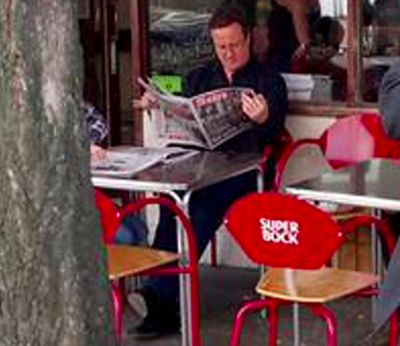 <em>Mr Cameron was also picture relaxing in Notting Hill after he stepped down from running the country (SWNS)</em>