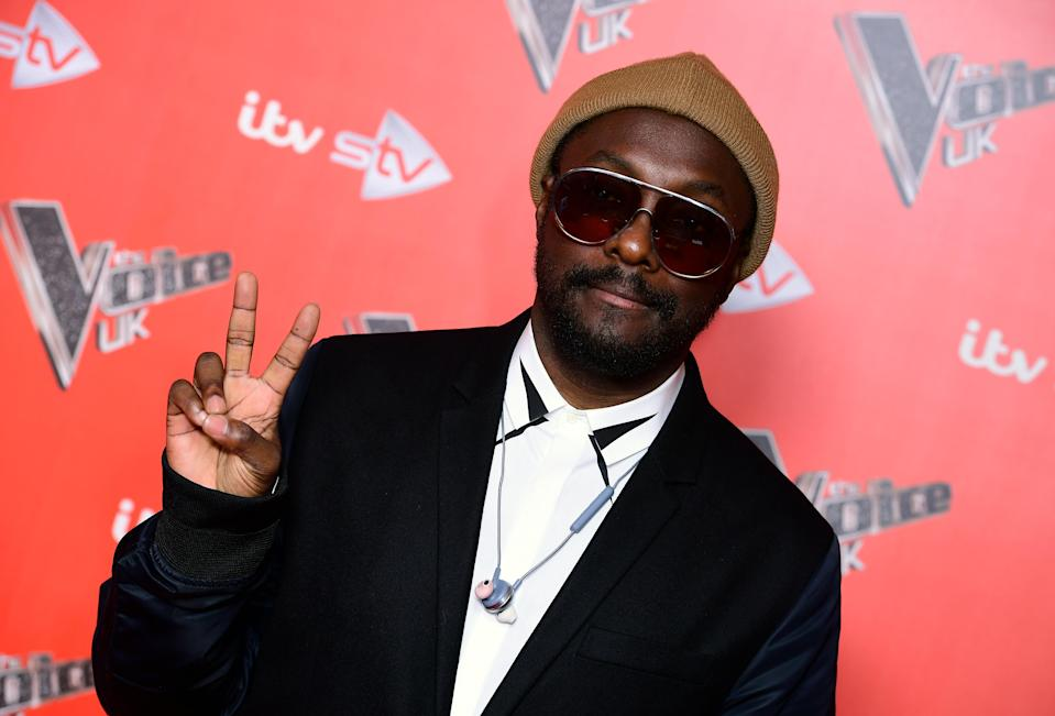 will.i.am attending the Voice UK Launch at Ham Yard Hotel, London. (Photo by Ian West/PA Images via Getty Images)