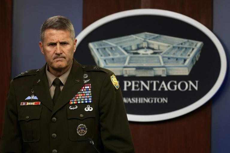 """US Army Major General William """"Hank"""" Taylor says the Pentagon is investigating the deadly attack at Kabul airport which left scores dead, including 13 US service members (AFP/ALEX WONG)"""