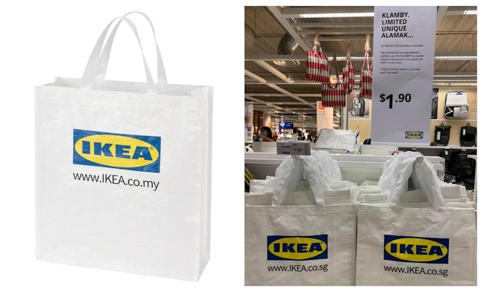 Ikea Malaysia and Singapore said, 'it's okay to make a mistake' and decided not to scrap the reusable bags. — Pictures from Ikea Malaysia, Facebook/Alicia Cho