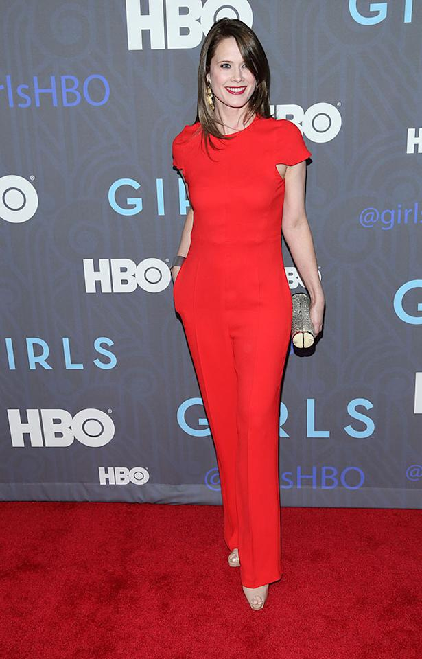 "Stephanie March attends HBO's premiere of ""Girls"" Season 2 at the NYU Skirball Center on January 9, 2013 in New York City."