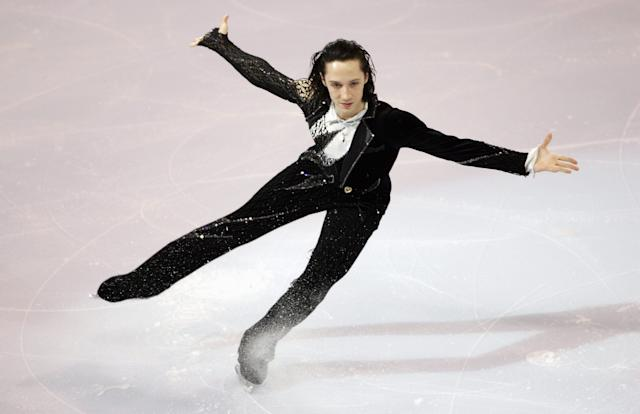 """Performingto """"My Way"""" during the Marshalls U.S. Figure Skating Challenge on Dec. 10, 2006, at Agganis Arena in Boston."""