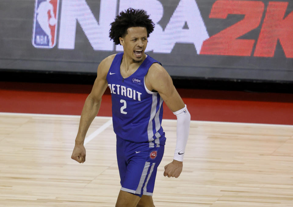 Detroit Pistons rookie Cade Cunningham looked the part of the next phase of the franchise during summer league play, both on the court and through his leadership. (Photo by Ethan Miller/Getty Images)