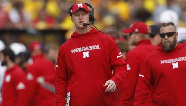 Scott Frost and the Cornhuskers had a rough Saturday at Michigan Stadium. (AP)