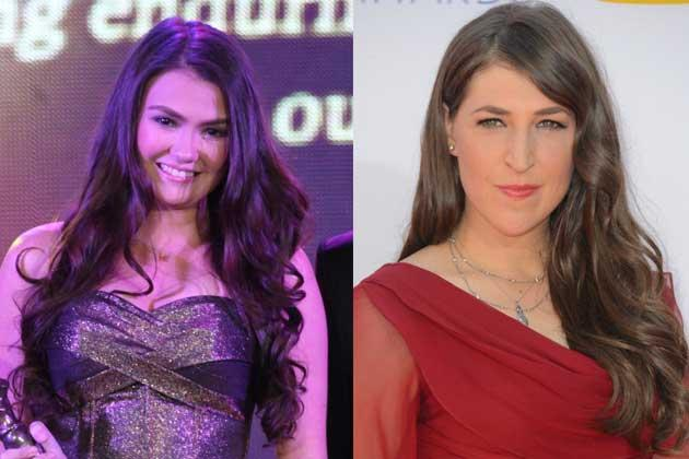 Angelica Panganiban lets her hair down with sexy waves at the FAMAS Awards while The Big Bang Theory's Mayim Bialik places her long luscious curls on one side.