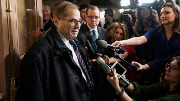 PHOTO: Democratic Representative from New York Jerry Nadler arrives to attend a Democratic caucus meeting on Capitol Hill in Washington, D.C., Jan. 14, 2020. (Jim Lo Scalzo/EPA via Shutterstock)