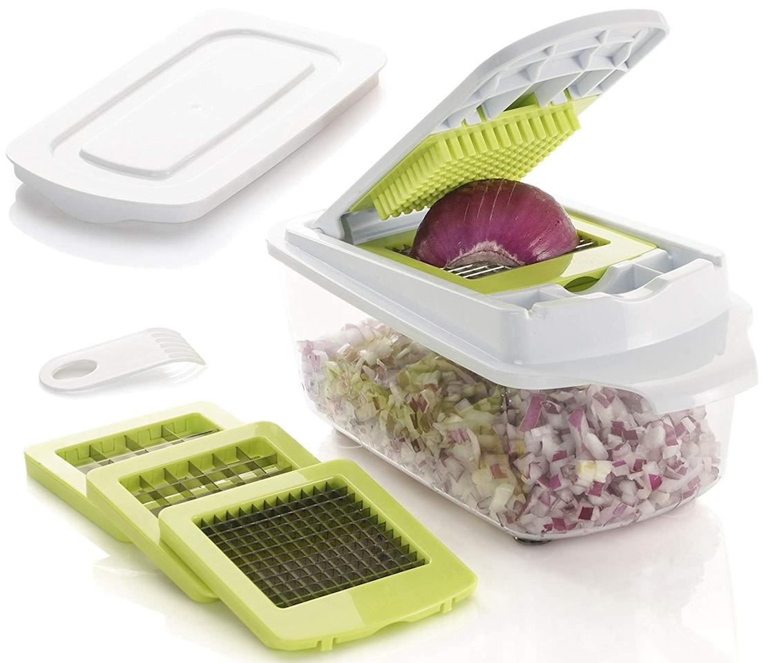 "<p>This <a href=""https://www.popsugar.com/buy/Brieftons-QuickPush-Food-Chopper-543269?p_name=Brieftons%20QuickPush%20Food%20Chopper&retailer=amazon.com&pid=543269&price=21&evar1=yum%3Aus&evar9=46436783&evar98=https%3A%2F%2Fwww.popsugar.com%2Fphoto-gallery%2F46436783%2Fimage%2F46436888%2FBrieftons-QuickPush-Food-Chopper&list1=shopping%2Cgadgets%2Ckitchen%20tools%2Ckitchens%2Ckitchen%20accessories%2Chome%20shopping&prop13=api&pdata=1"" rel=""nofollow"" data-shoppable-link=""1"" target=""_blank"" class=""ga-track"" data-ga-category=""Related"" data-ga-label=""https://www.amazon.com/dp/B06Y4X1TFH/ref=sspa_dk_detail_6?psc=1&amp;pd_rd_i=B06Y4X1TFH&amp;pd_rd_w=twRi7&amp;pf_rd_p=c83c55b0-5d97-454a-a592-a891098a9709&amp;pd_rd_wg=XMb1I&amp;pf_rd_r=AFT6D729S7SQ3DKTGN25&amp;pd_rd_r=1733b21a-efa6-4fa0-afa2-cc8af1046855&amp;spLa=ZW5jcnlwdGVkUXVhbGlmaWVyPUExTEQxMExKNVFVUFdDJmVuY3J5cHRlZElkPUEwMDk5OTE5TkZENlZLM1dXTThRJmVuY3J5cHRlZEFkSWQ9QTA2NTQ4OTgySVA5T0xQVlFSWllCJndpZGdldE5hbWU9c3BfZGV0YWlsX3RoZW1hdGljJmFjdGlvbj1jbGlja1JlZGlyZWN0JmRvTm90TG9nQ2xpY2s9dHJ1ZQ=="" data-ga-action=""In-Line Links"">Brieftons QuickPush Food Chopper</a> ($21) is like having a kitchen assistant to help speed up prep time.</p>"