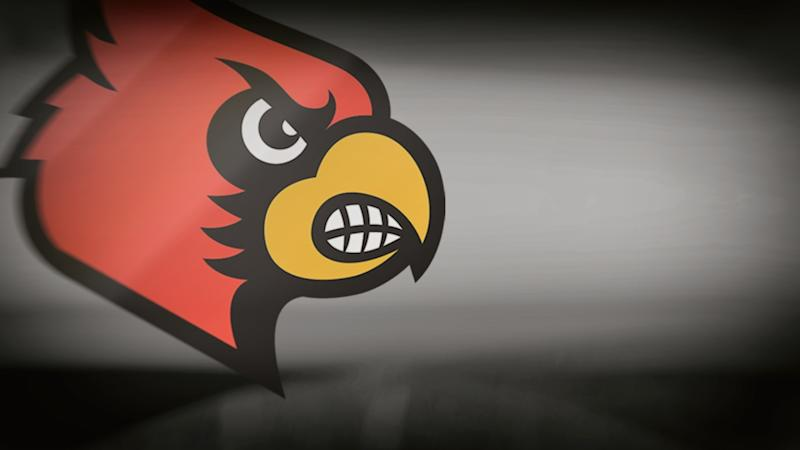 University of Louisville Cardinals logo, on texture, partial graphic
