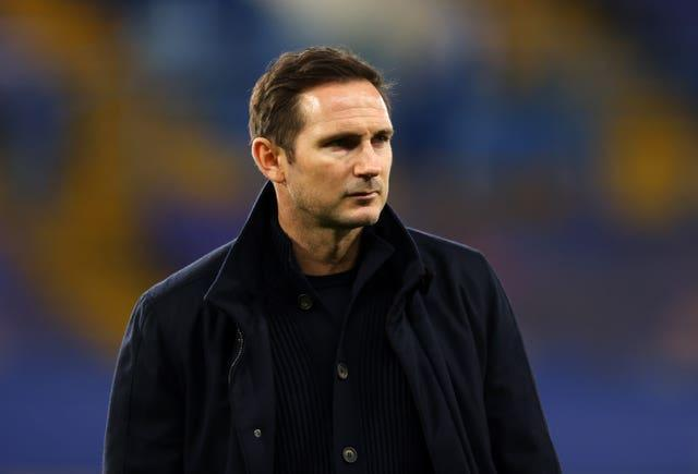 Frank Lampard on the touchline