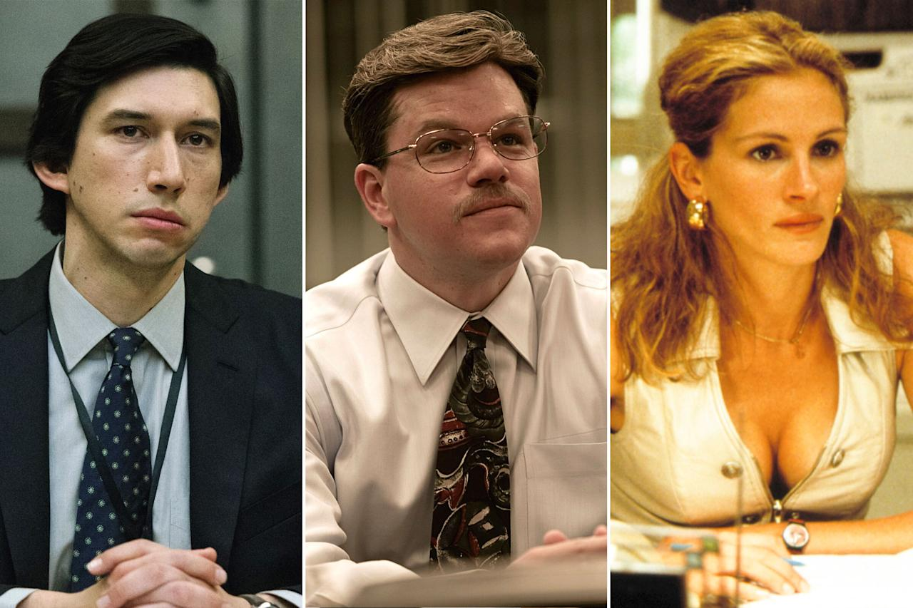 "It seems movies about whistleblowers are more relevant than ever — indeed, three such movies hit screens in 2019 — but this particular subgenre has a rich, storied tradition, stretching all the way back to the days of classic Hollywood. With <em><a href=""https://ew.com/trailers/2019/08/22/adam-driver-annette-bening-the-report-trailer/"">The Report</a> </em>and <a href=""http://ew.com/creative-work/dark-waters""><em>Dark Waters</em></a> arriving in theaters this month, here are 20 whistleblower-themed films worth exposing for the powerful watches they are."