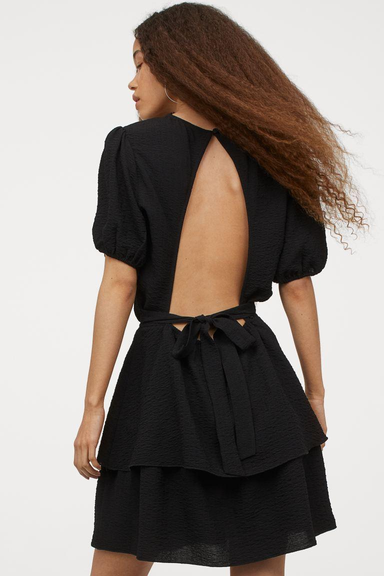 """<br><br><strong>H&M</strong> Open-backed Dress, $, available at <a href=""""https://go.skimresources.com/?id=30283X879131&url=https%3A%2F%2Fwww2.hm.com%2Fen_us%2Fproductpage.0938937002.html"""" rel=""""nofollow noopener"""" target=""""_blank"""" data-ylk=""""slk:H&M"""" class=""""link rapid-noclick-resp"""">H&M</a>"""