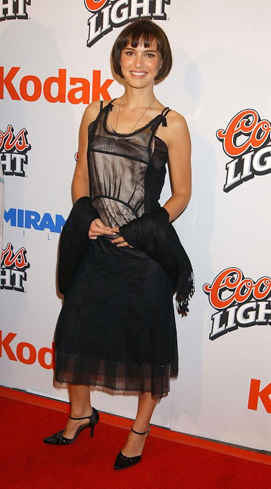 "2003: ""<a href=""http://movies.yahoo.com/movie/1808403511/info"">Cold Mountain</a>"" Premiere   She may have had a minor role in ""Cold Mountain"" alongside A-listers Jude Law and Nicole Kidman, but Portman stood out on the red carpet with a chic bob and 1920's inspired dress at the film's premiere in 2003."