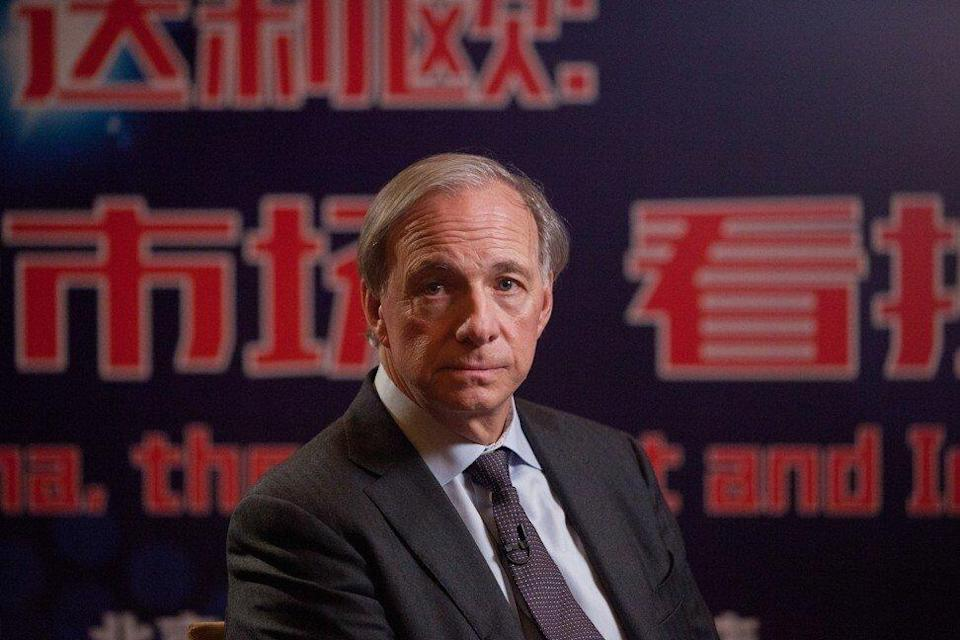 Ray Dalio, billionaire investor and founder of Bridgewater Associates, during a Bloomberg Television interview at the Grand Hyatt in Beijing on Tuesday, February 27, 2018. Photo: Bloomberg