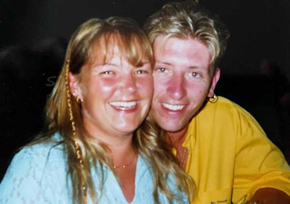 Justine and Andrew on their first holiday together as teenagers (Collect/PA Real Life).