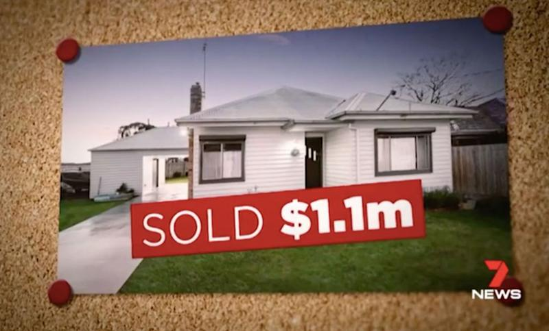 Mr Hannaford sold his inner-city property for $1.1 million - double what he paid for it. Source: 7 News