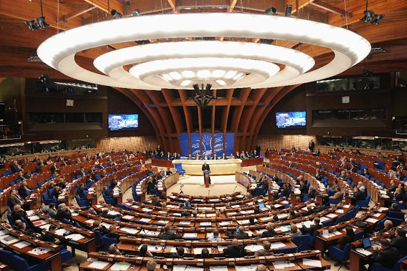 The council's parliamentary assembly brings together around 300 lawmakers from 47 states (AFP Photo/Frederick FLORIN)