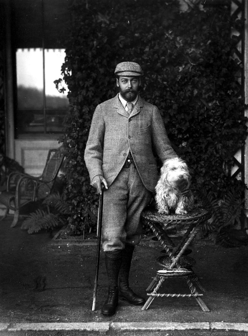 <p>King George V had his portrait taken with a dog, even back when photography was a rarity.</p>