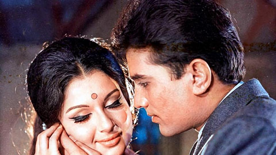 Sharmila Tagore and Rajesh Khanna in Aradhana