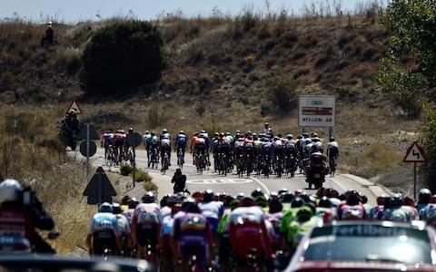 <span>A huge split formed early into stage 17</span> <span>Credit: Getty Images </span>